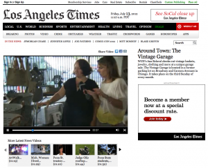 WGN Vintage Garage Chicago Los Angeles Times