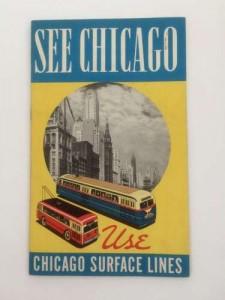 Retro Chicago public transportation brochures