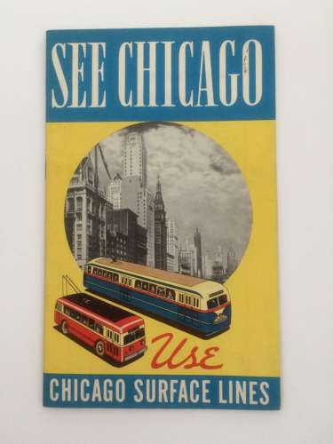 Retro Chicago Public Transportation Brochures