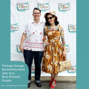 Best dressed couple Vintage Garage July flea market 2015