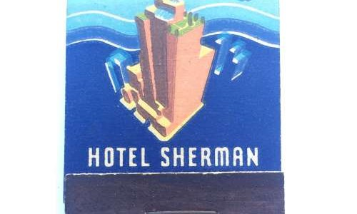 1930's Matchbook from the Hotel Sherman in Chicago