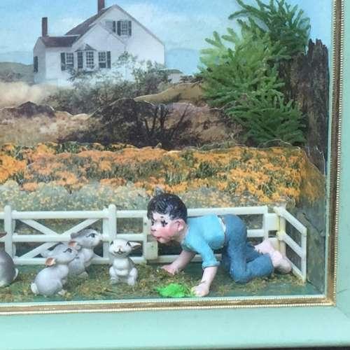 Diorama Shadowbox by Narcissa Thorne Farm Scene