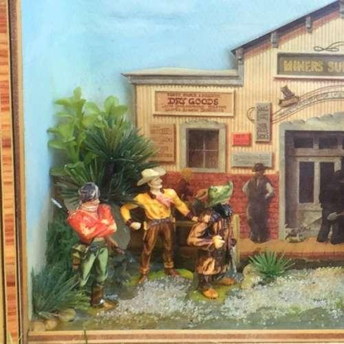 Narcissa Thorne Cowboys Western Diorama Shadowbox cowboys miners horses