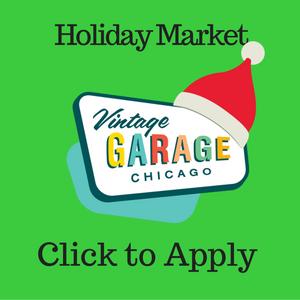 Vintage Garage HOliday market dealer application.