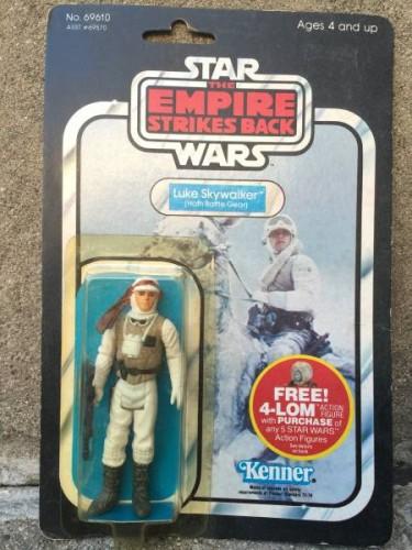 vintage finds, Luke Skywalker original Empire Strikes back Hoth figure original card