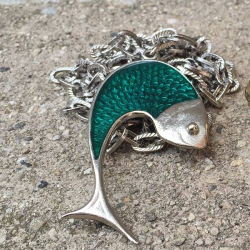Retro necklace fish pendant found at the Vintage garage!