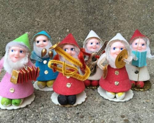 Vintage Christmas Elf Band at the Vintage Garage