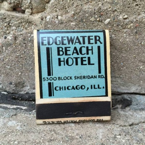 Edgewater beach hotel Chicago matchbook from the Vintage Garage Season finale