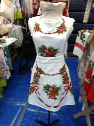 Vintage Garage Chicago Holiday market Christmas Aprons