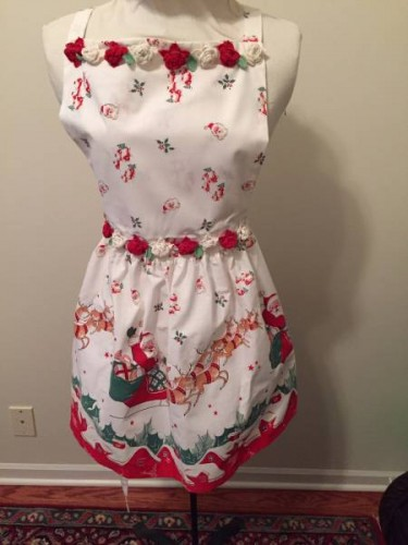 Christmas Aprons at the Vintage Garage Chicago