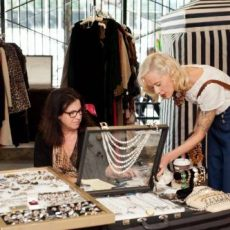 Donatella and Karyn Dethrow at Vintage Garage Chicago.