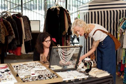 Donatella and Karyn Dethrow at Vintage Garage Chicago.