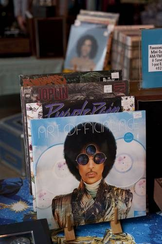 Prince and the Revolution Purple Rain on vintage vinyl.