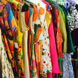 July is all about vintage clothing and Rockabilly at Vintage Garage Chicago.  Vintage dresses galore!