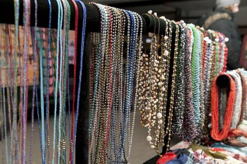 Vintage Garage Chicago. Vintage Flea market, Uptown on Broadway. Necklaces