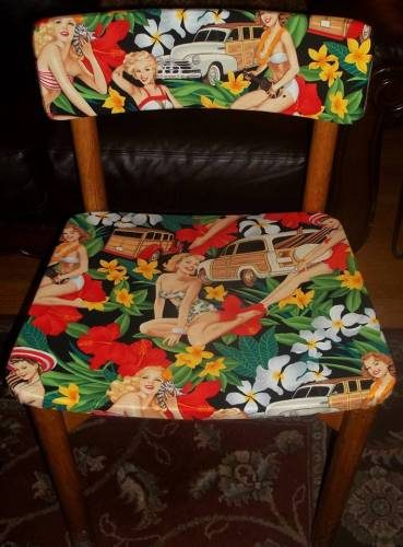 Rockabilly pin up vintage fabric