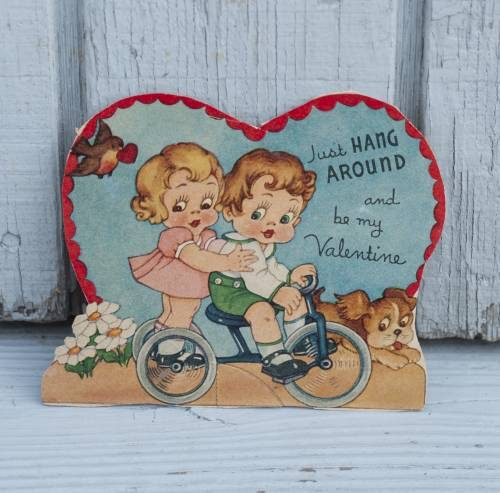 vintage valentine card by Grace Drayton. Creator of Campbell's soup kids.
