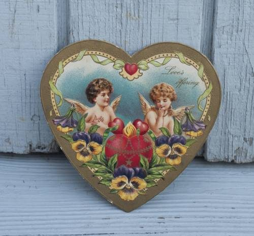 vintage valentine made in Germany. Late 1800's or early 1900's.