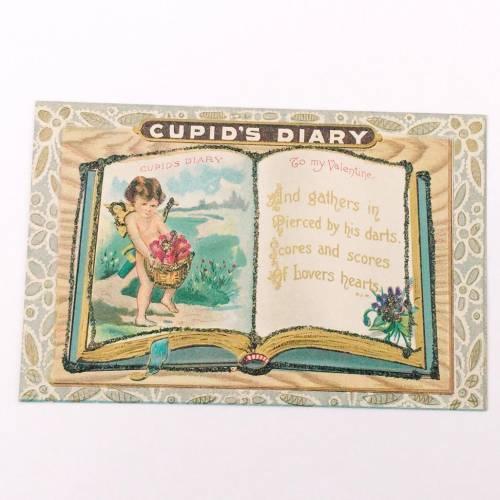 Collecting Vintage Postcards, vintage Valentine's Day postcard.
