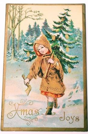 Collecting Vintage Holiday Postcards. Made in Germany.