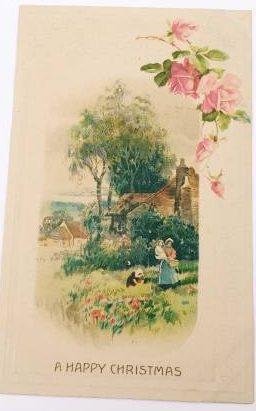 Vintage Holiday Christmas Postcard, about collecting Christmas postcards
