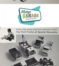Ford Dealership, Vintage Ford, pressed steel toys, Nylint, Nylint toys, Toy Trucks, pressed steel truck, vintage toys, vintage trucks,