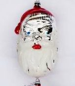 Vintage Santa Christmas ornaments made in Germany