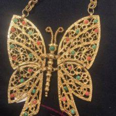 D&E Juliana Butterfly necklace. Vintage 1970's or 1980's. Vintage Garage favorite appraisal fair.