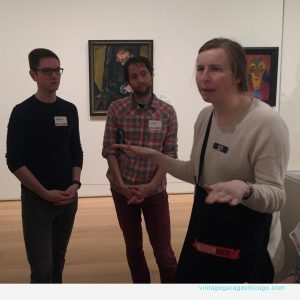 Guide Elise of Museum Hack at the Art Institute of Chicago