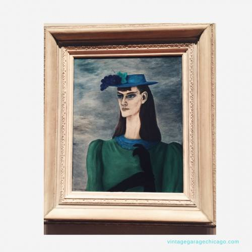 Gertrude Abercrombie Painting Self Portrait Wanted Art Institute of Chicago
