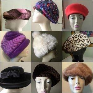 Lottie Dottie Vintage Hats collection at the Vintage Garage Chicago.