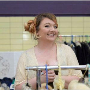 michelle of Bolted Vintage carries Authentic vintage each month at Vintage Garage Chicago her and other vintage dealers sell each month