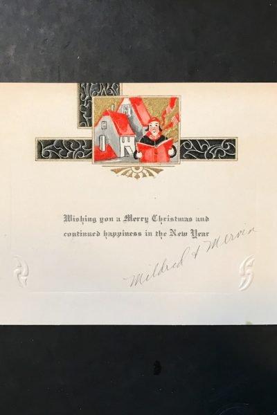 Vintage 1930's Christmas Card.