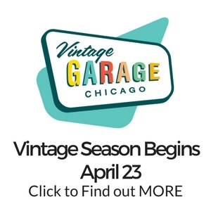 Vintage Season begins in Chicago each April with Vintage Garage Chicago. An open air covered garage wth 100 vendors.