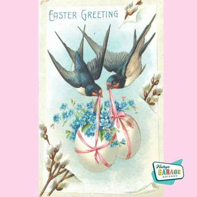 Bluebird Easter Postcard