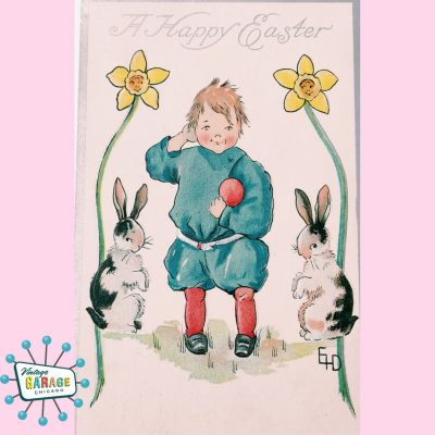Vintager Easter Postcard from 1910. Artist Signed.