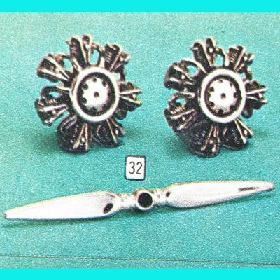 Vintage Fathers Day Sears Catalog Figural Gifts Jet Airplane Propellor Cuff Links Tie Clip Jewelry Sets