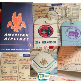 American Airlines Vintage Paper Ticket 707 Flagship