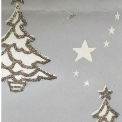 Vintage Gift Wrapping Paper glitter trees at Vintage Garage
