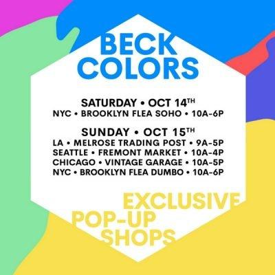 Beck Chicago Pop Up for New album release Colors. October 15 at Vintage Garage Chicago.