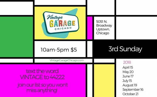 Vintage Garage Chicago 2018 Chicago Flea Market Schedule 3rd Sunday Uptown