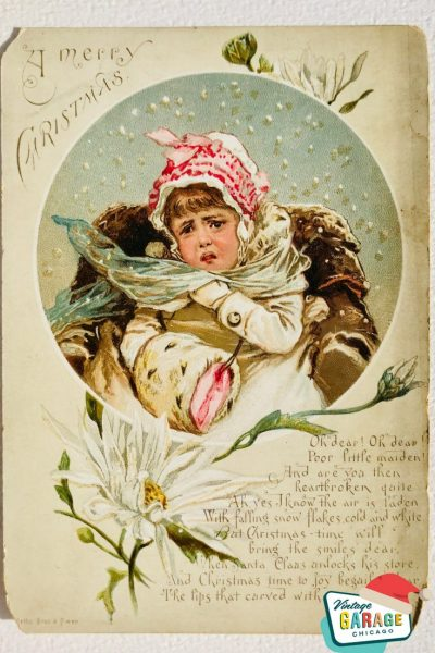 Vintage Christmas at Vintage Garage Chicago. pin postcard consumer ad- a merry christmas old Victorian advertising card