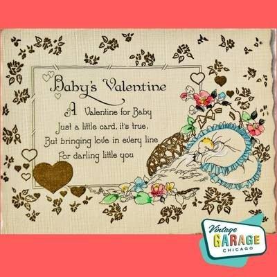 Baby's Valentine Postcard Vintage Garage Chicago.