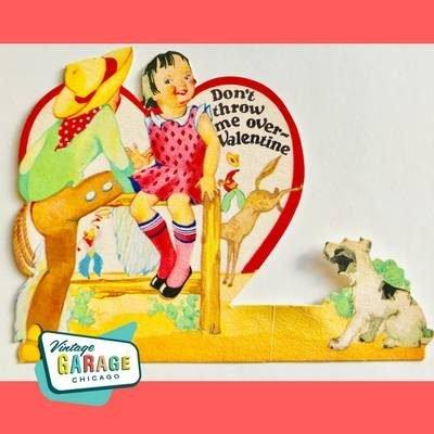 Don't throw me over Vintage Valentine Doggie. Vintage Garage Chicago.