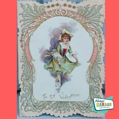 Early Made in Germany vintage Valentine Card