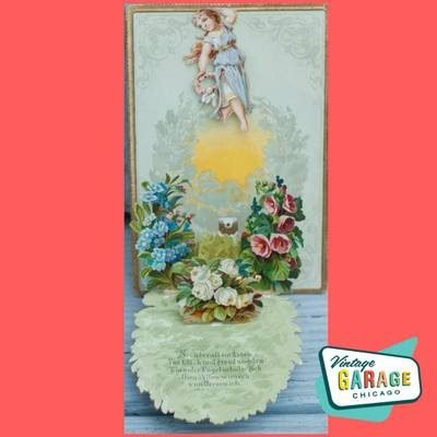 Made in Germany vintage valentine card that opens pop up