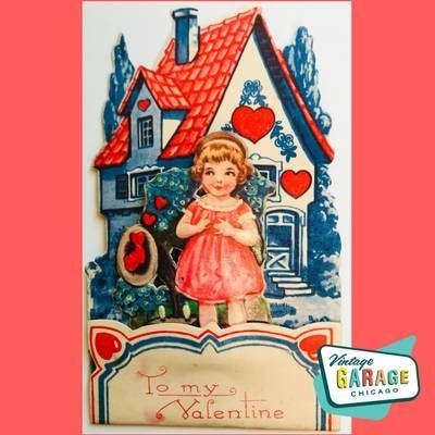 Popup Vintage Valentine card. Made in Germany. Vintage Garage Chicago.