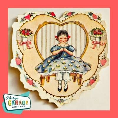 Vintage Valentine Greeting Card. Valentine I have will for one so nice and sweet as you. Vintage Valentine cards. Vintage Garage Chicago.