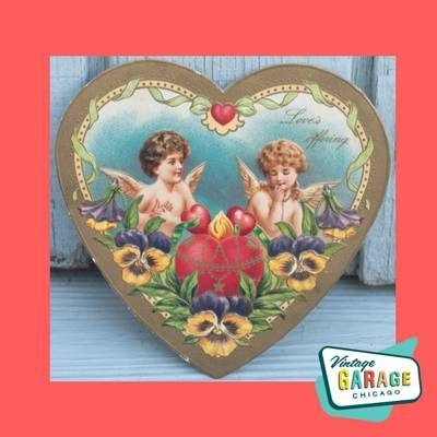 Valentine Love offering heart. Made in Germany, early 20th century