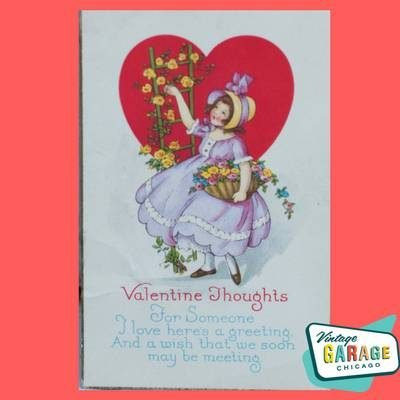 Valentine Postcard Valentine Thoughts For Someone I love here's a greeting...